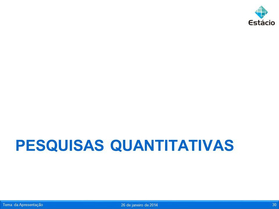 Pesquisas quantitativas