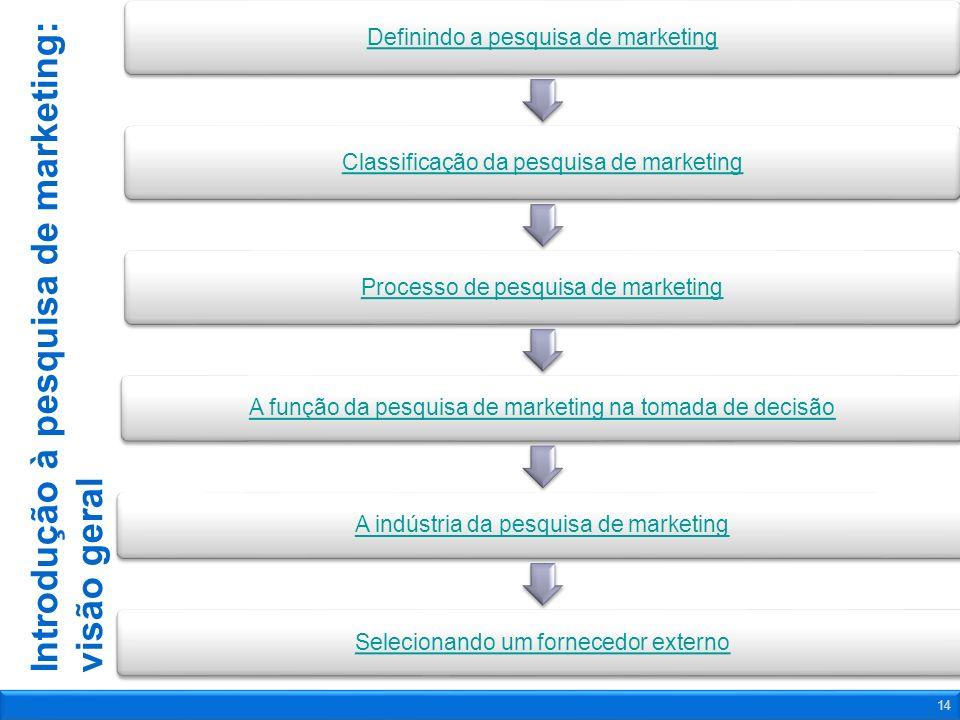 Introdução à pesquisa de marketing: visão geral