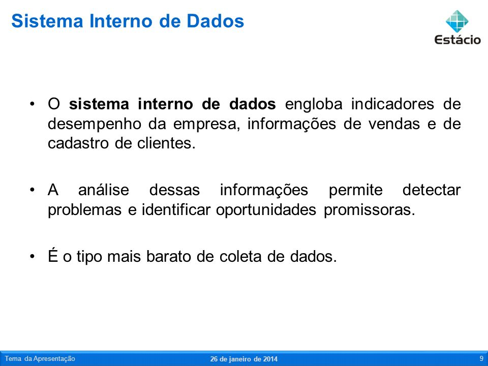 Sistema Interno de Dados