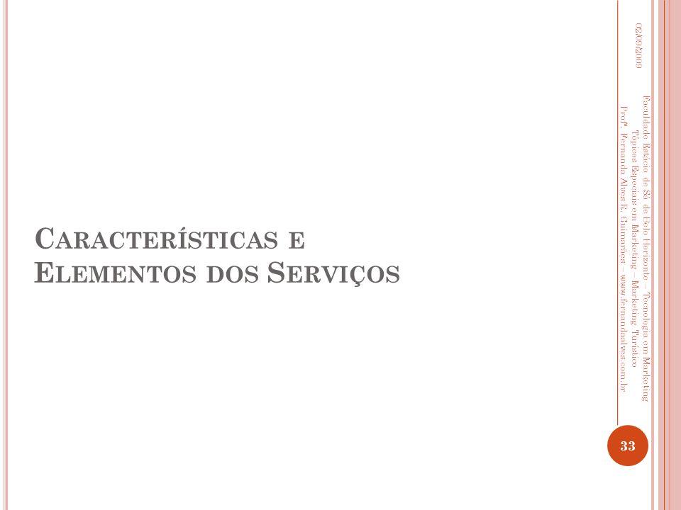 Características e Elementos dos Serviços