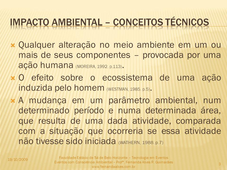 Impacto ambiental – conceitos técnicos