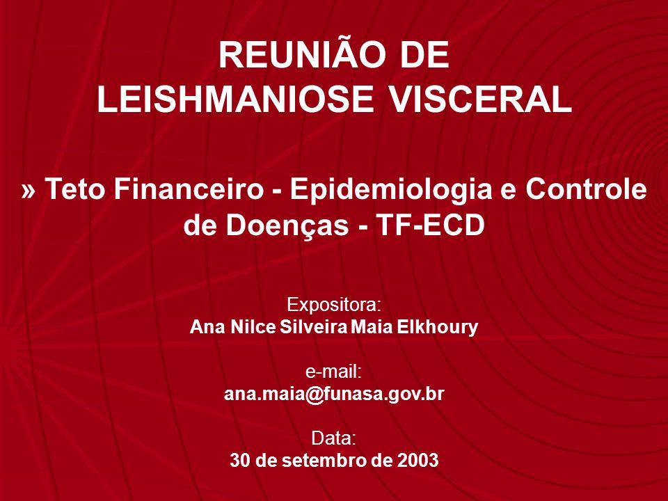 REUNIÃO DE LEISHMANIOSE VISCERAL