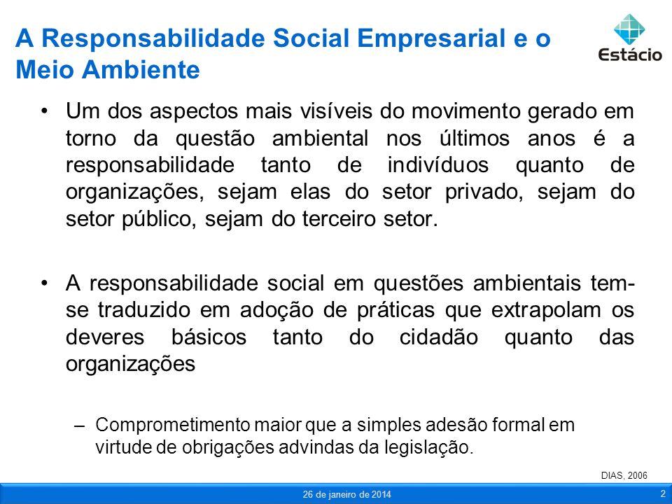 A Responsabilidade Social Empresarial e o Meio Ambiente