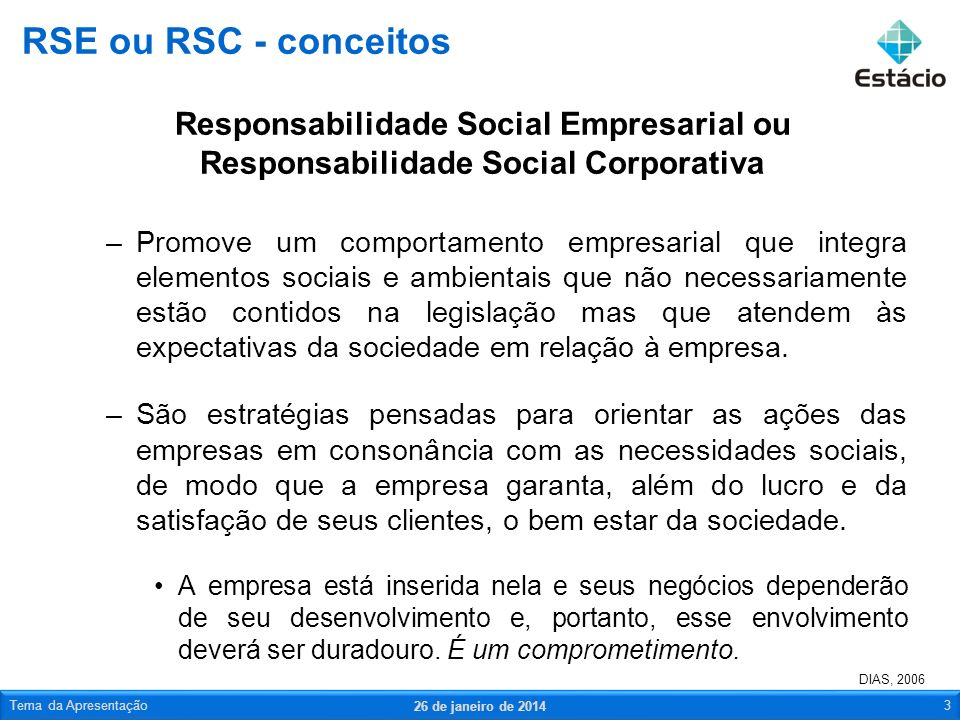 RSE ou RSC - conceitos Responsabilidade Social Empresarial ou Responsabilidade Social Corporativa.