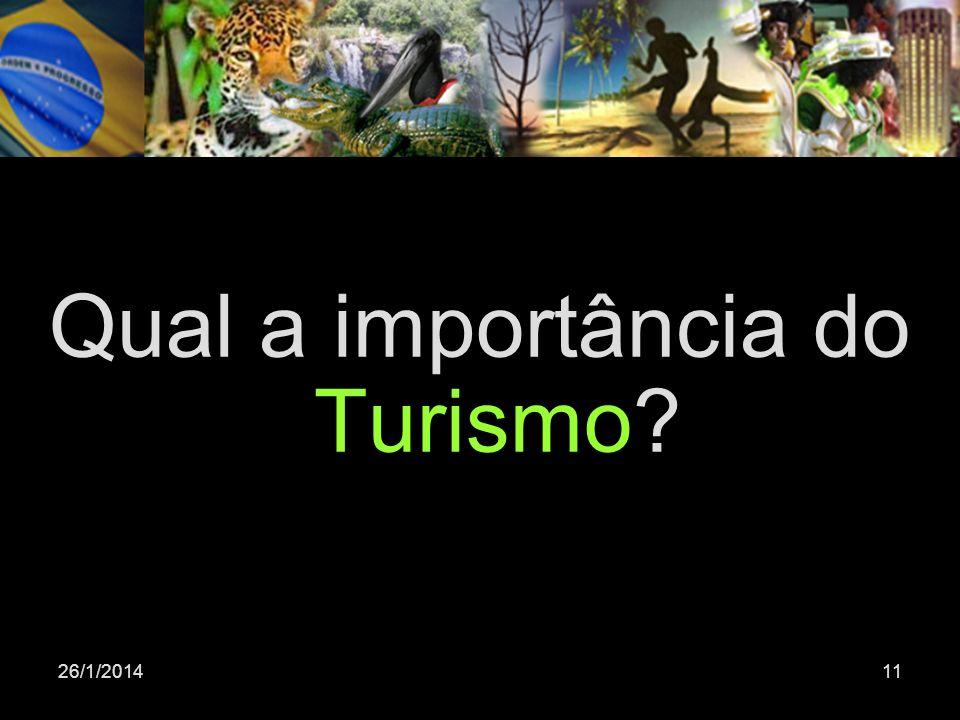 Qual a importância do Turismo