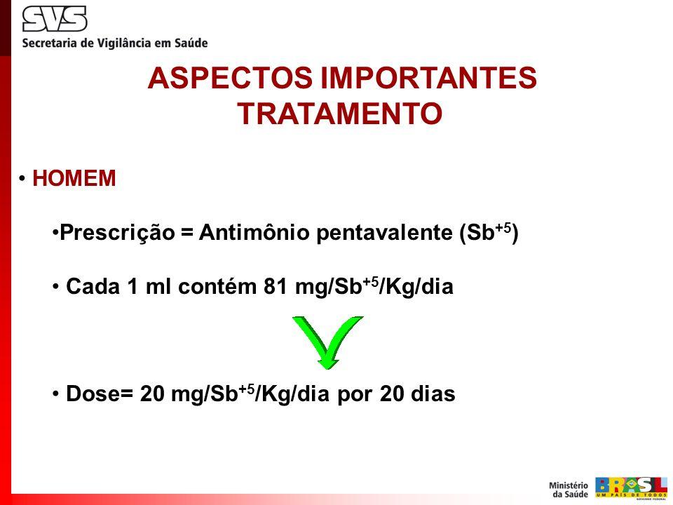 ASPECTOS IMPORTANTES TRATAMENTO