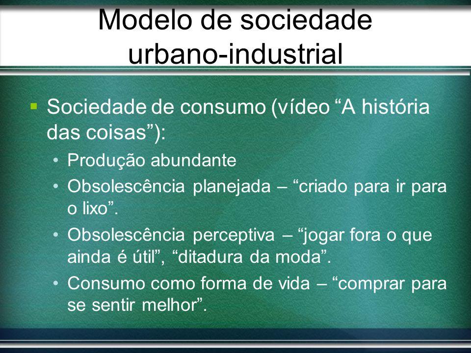 Modelo de sociedade urbano-industrial