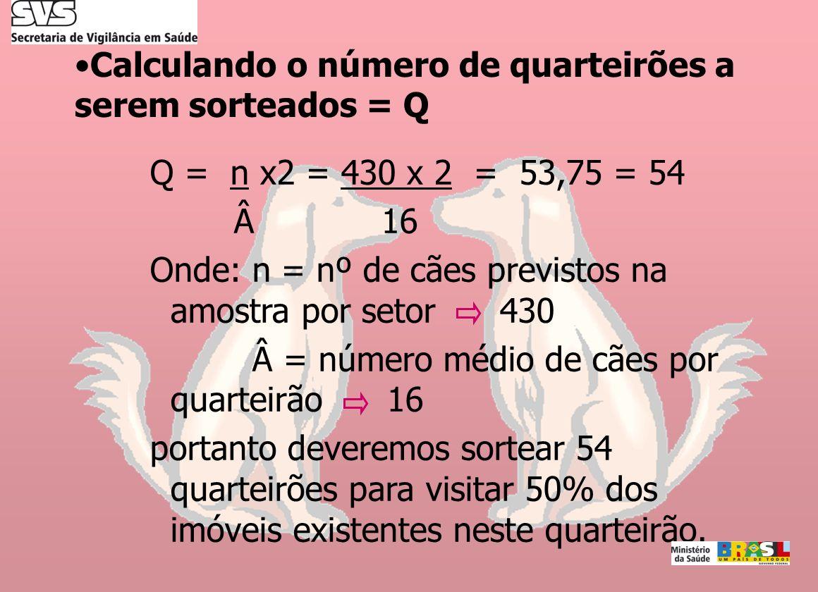 Calculando o número de quarteirões a