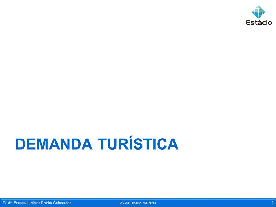 Demanda turística Profª. Fernanda Alves Rocha Guimarães