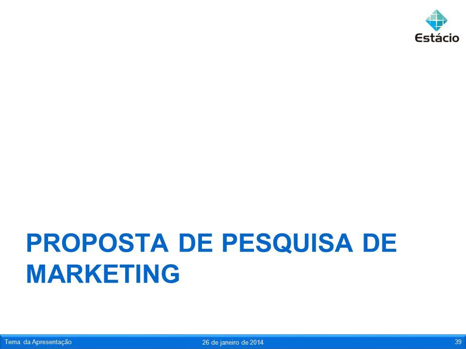 Proposta de pesquisa de marketing