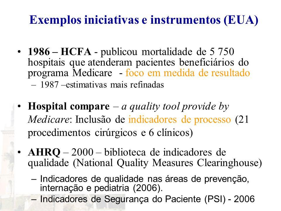 Exemplos iniciativas e instrumentos (EUA)