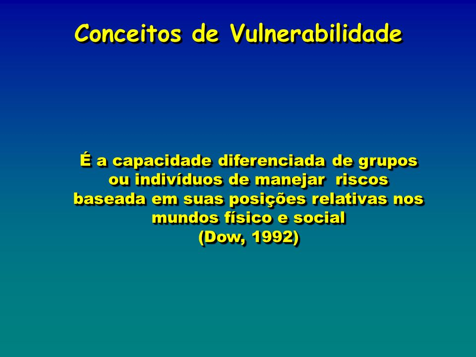 Conceitos de Vulnerabilidade