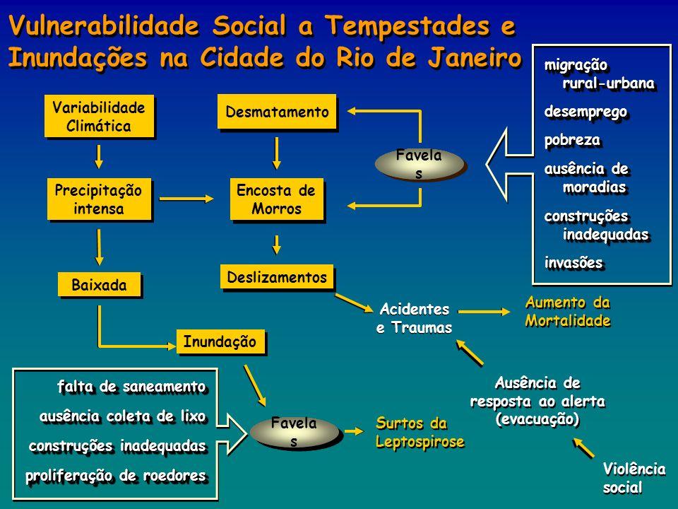 Variabilidade Climática Ausência de resposta ao alerta (evacuação)