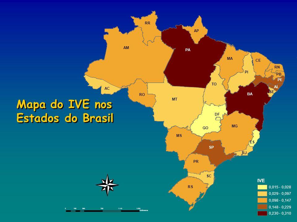 Mapa do IVE nos Estados do Brasil