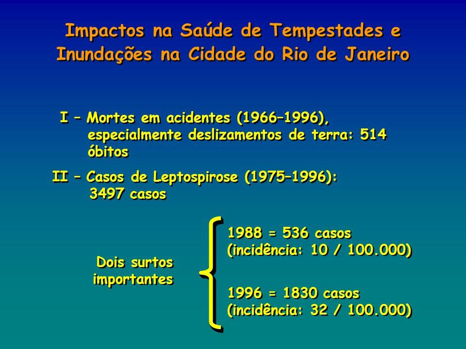 Impactos na Saúde de Tempestades e Inundações na Cidade do Rio de Janeiro