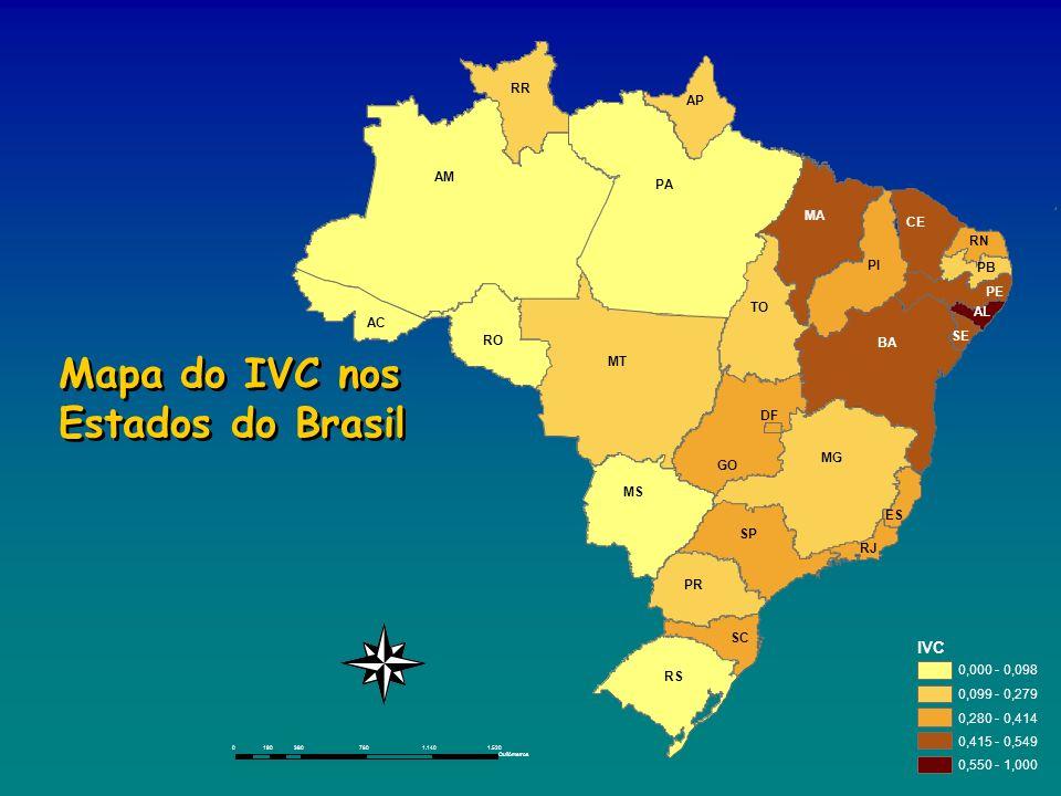 Mapa do IVC nos Estados do Brasil
