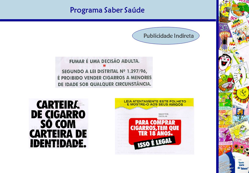 Programa Saber Saúde Publicidade Indireta