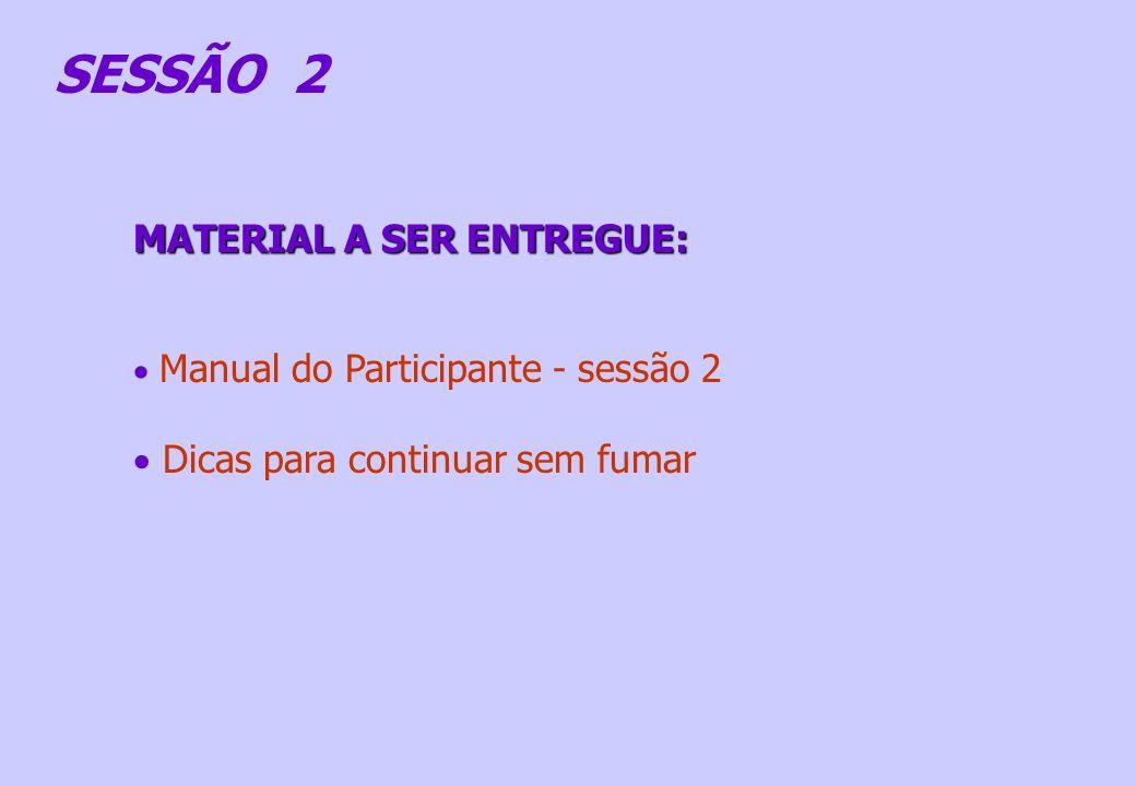 SESSÃO 2 MATERIAL A SER ENTREGUE: Dicas para continuar sem fumar