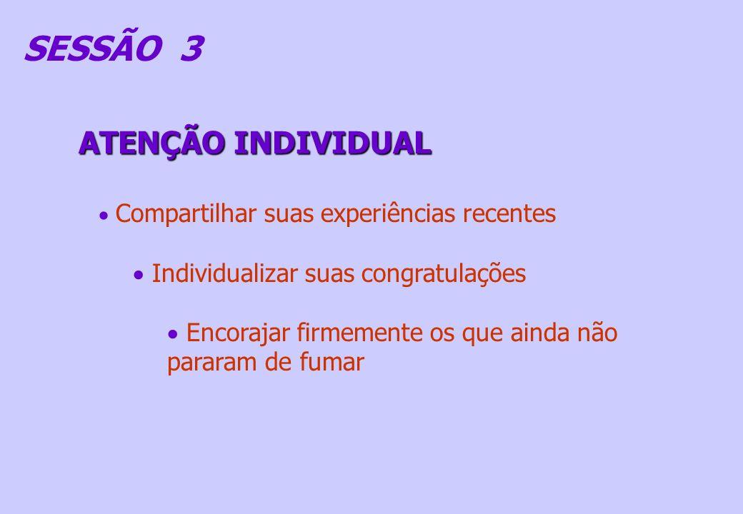 SESSÃO 3 ATENÇÃO INDIVIDUAL Individualizar suas congratulações