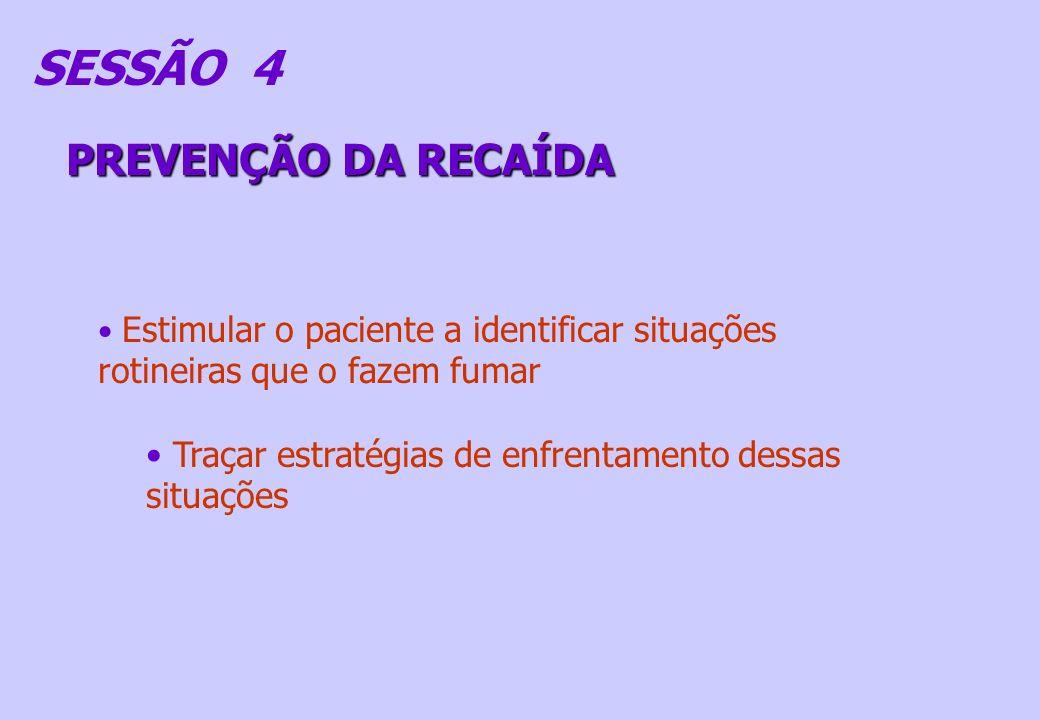 SESSÃO 4 PREVENÇÃO DA RECAÍDA