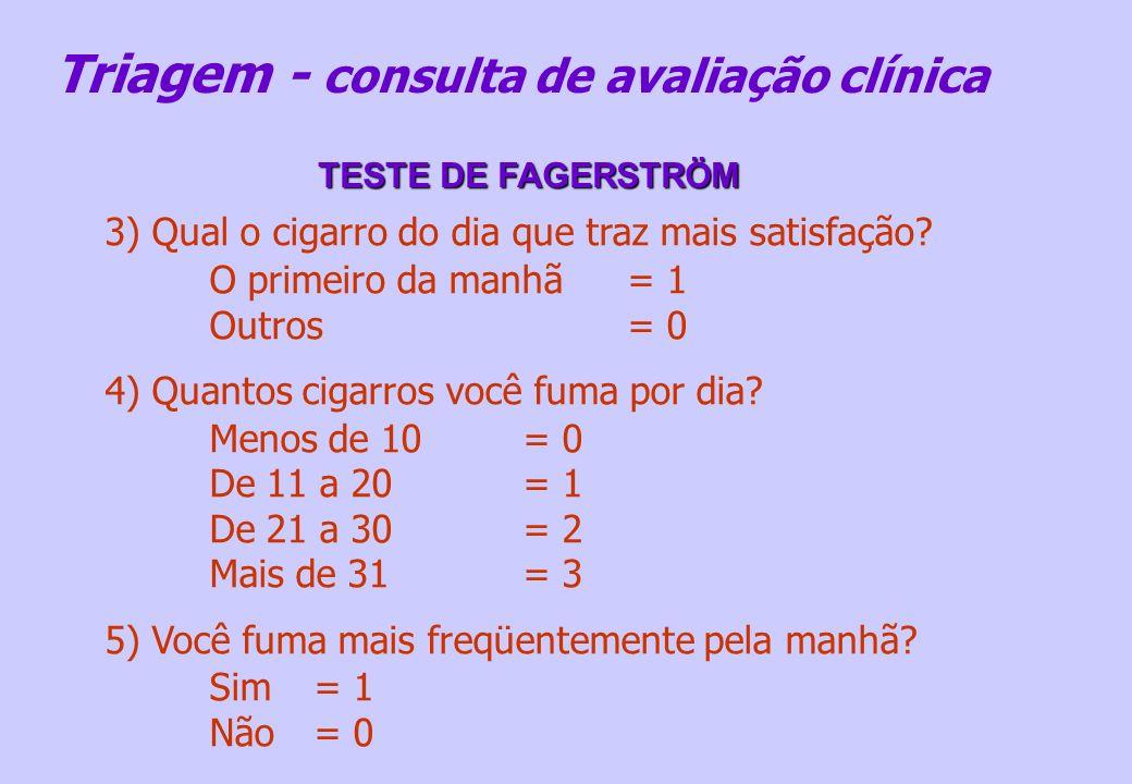 Triagem - consulta de avaliação clínica