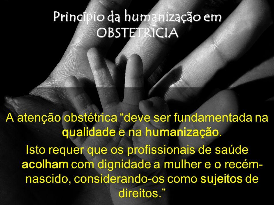 Princípio da humanização em OBSTETRÍCIA