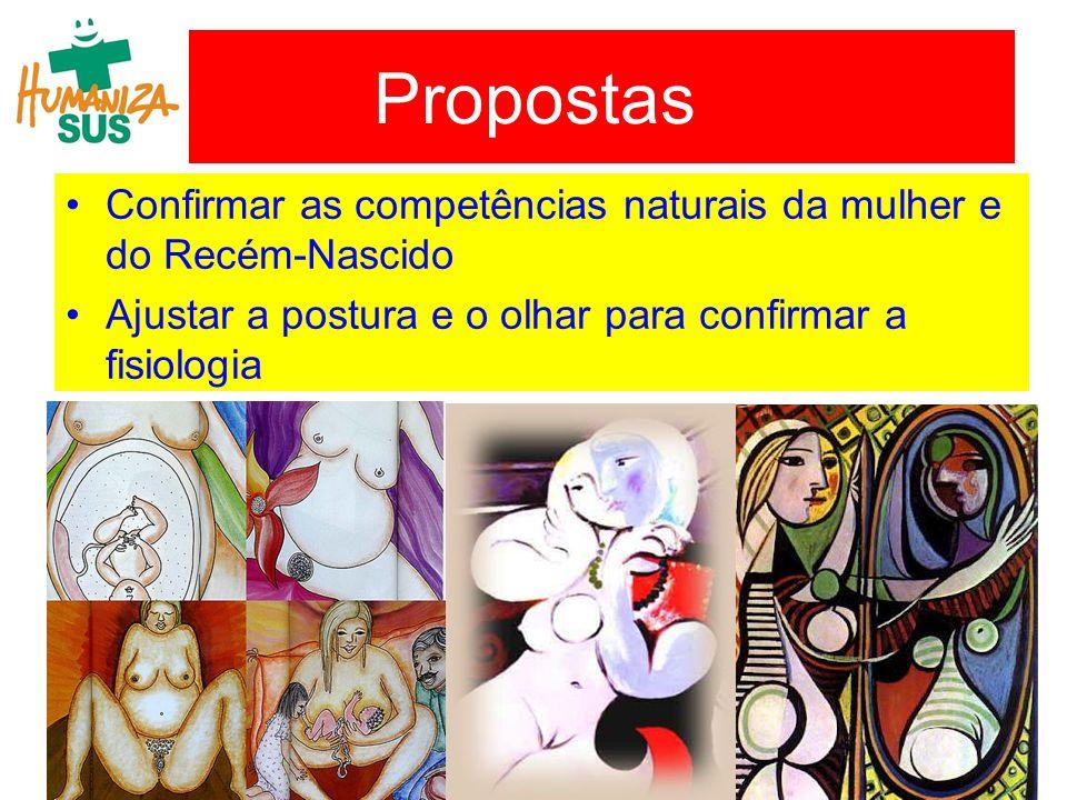 Propostas Confirmar as competências naturais da mulher e do Recém-Nascido.