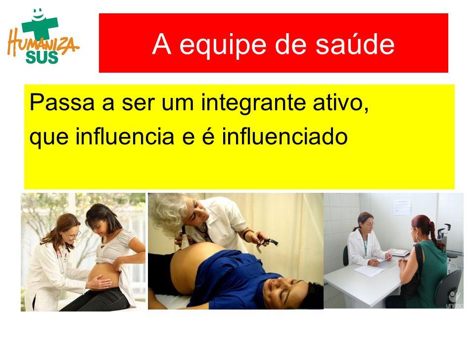 A equipe de saúde Passa a ser um integrante ativo,