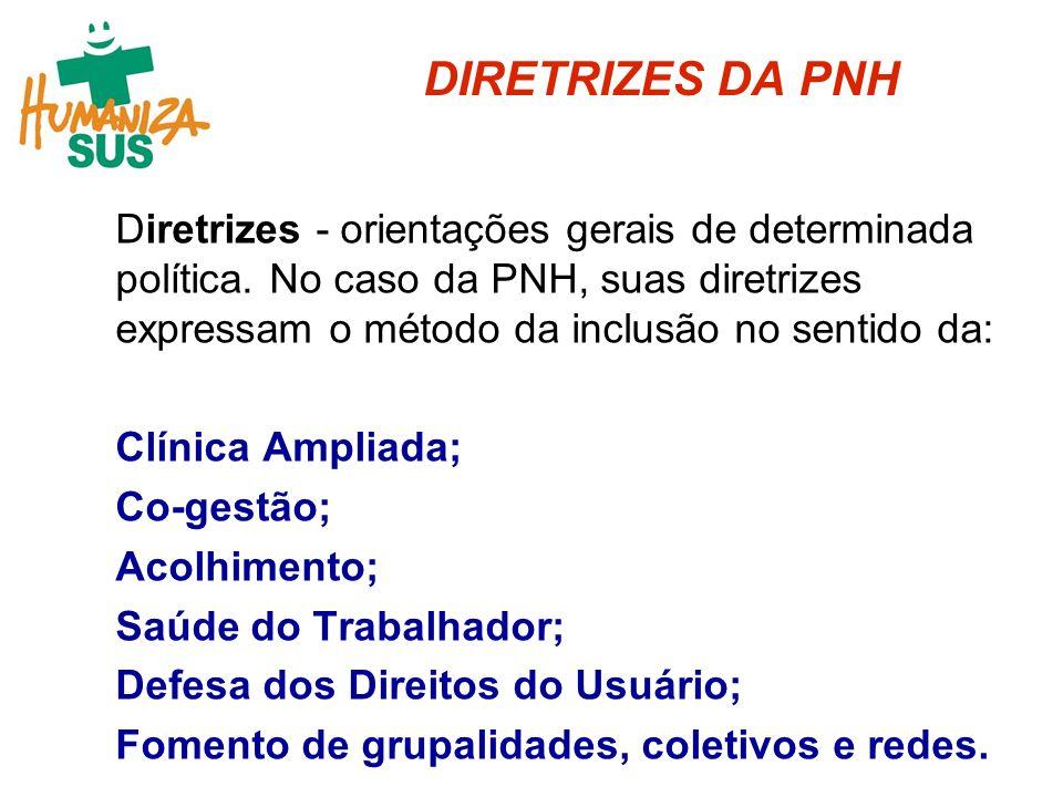 DIRETRIZES DA PNH
