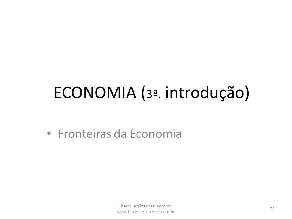 ECONOMIA (3ª. introdução)