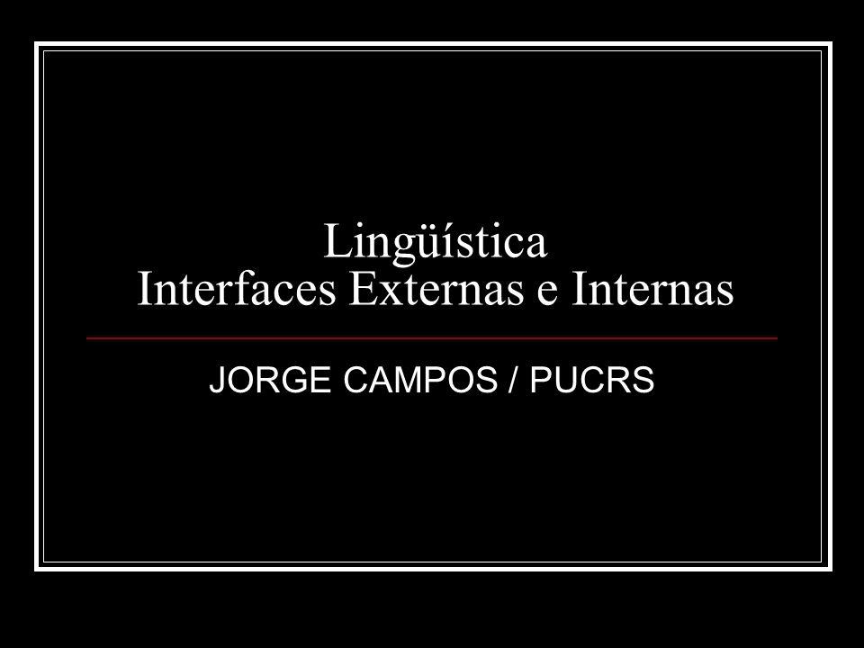 Lingüística Interfaces Externas e Internas