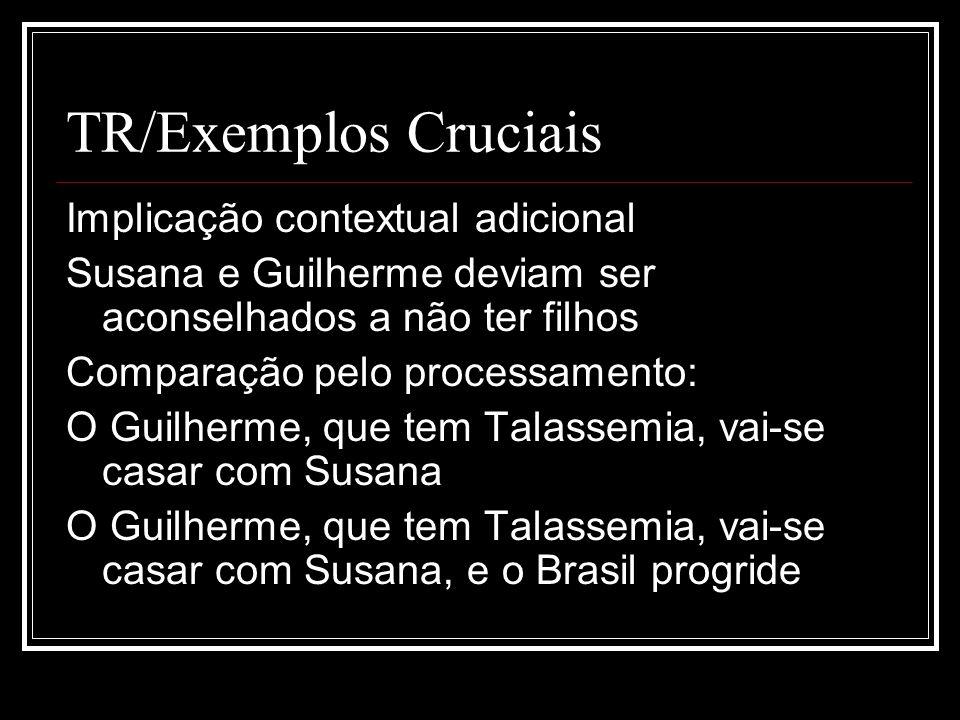 TR/Exemplos Cruciais Implicação contextual adicional