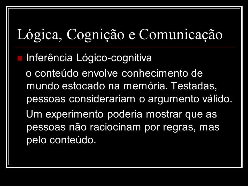 Lógica, Cognição e Comunicação