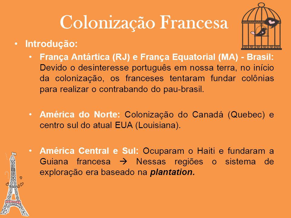Colonização Francesa Introdução: