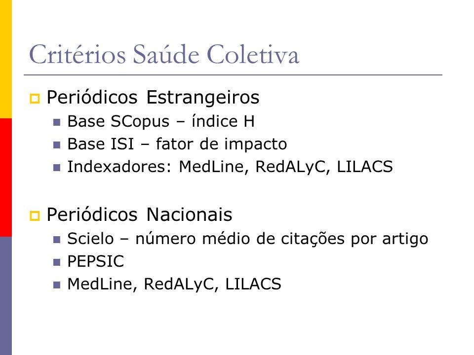 Critérios Saúde Coletiva