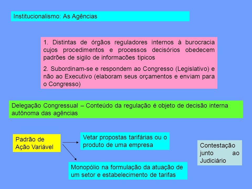 Institucionalismo: As Agências
