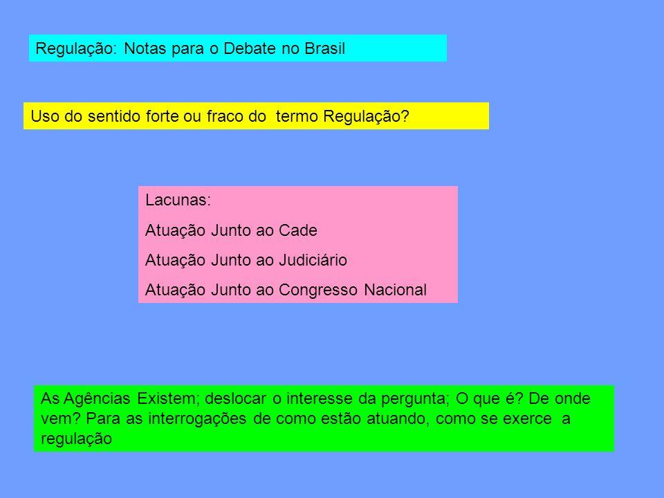 Regulação: Notas para o Debate no Brasil