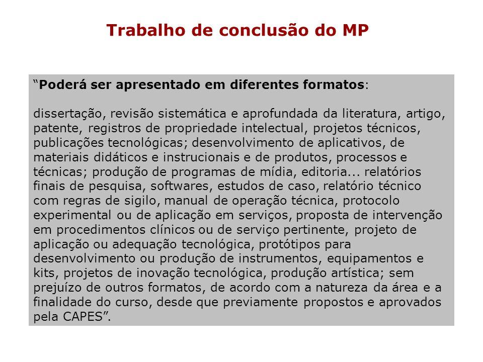 Trabalho de conclusão do MP