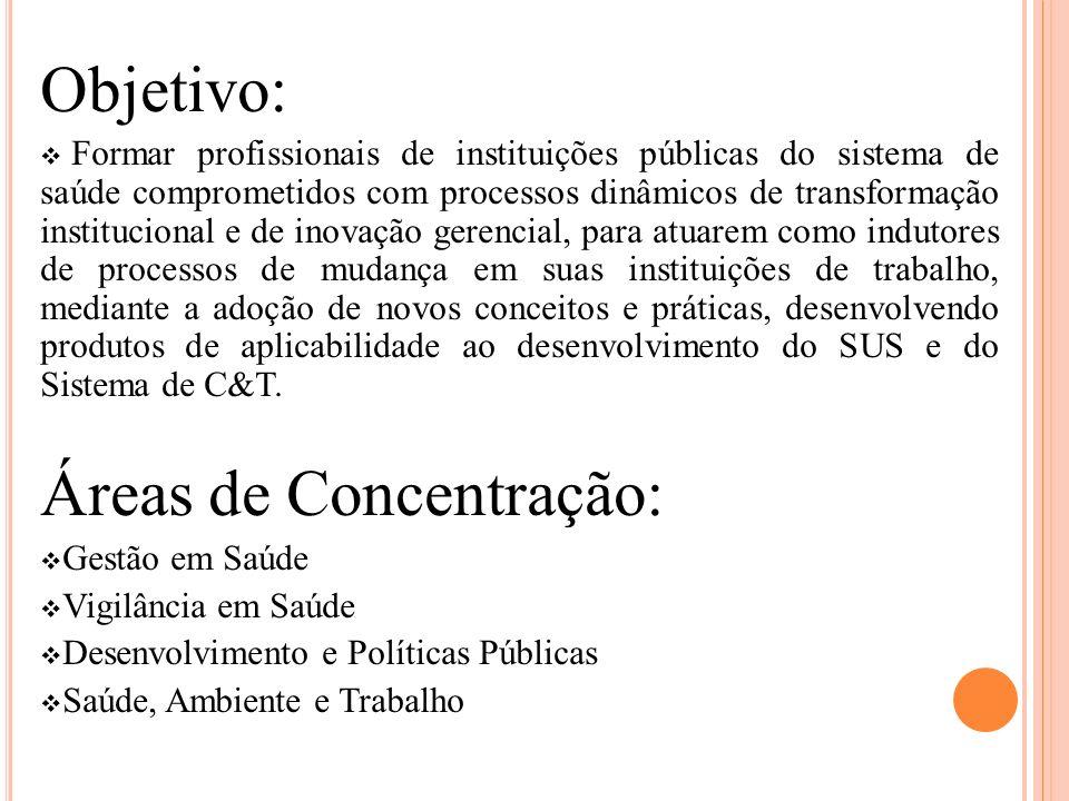 Áreas de Concentração: