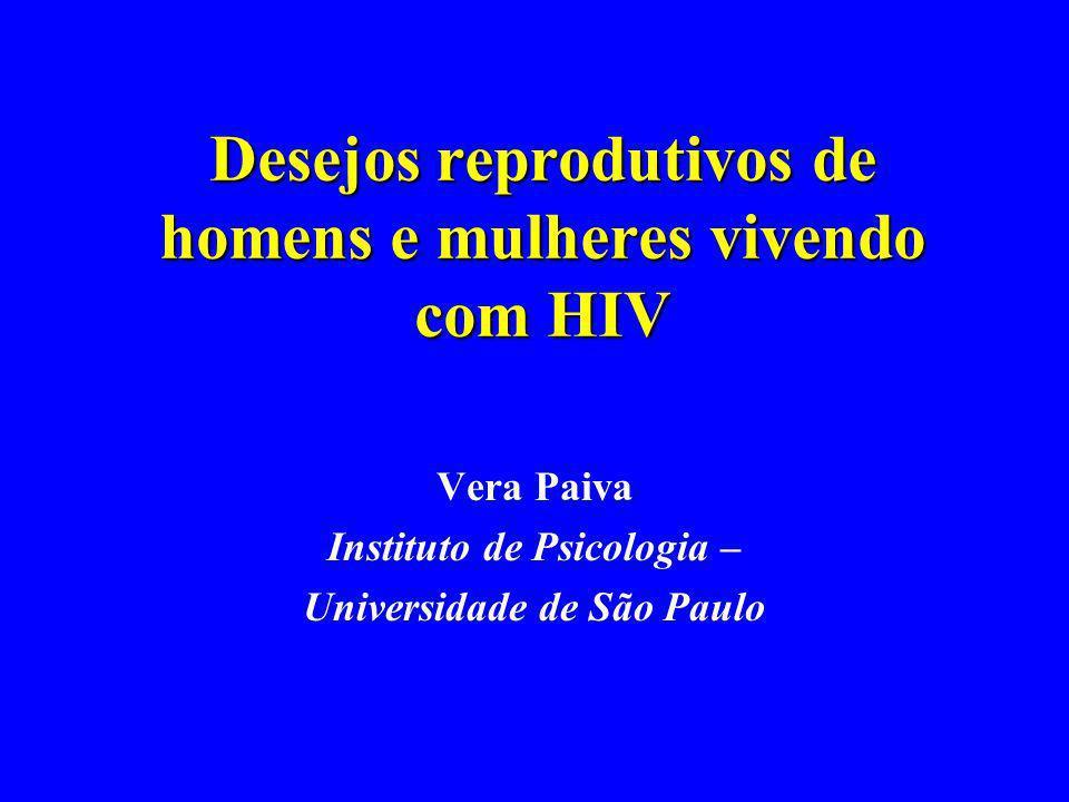 Desejos reprodutivos de homens e mulheres vivendo com HIV