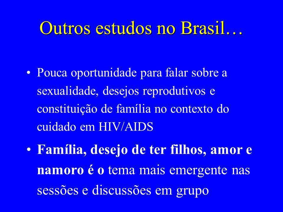 Outros estudos no Brasil…