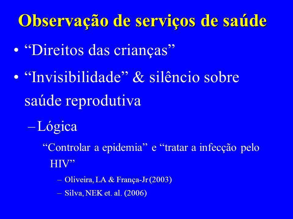 Observação de serviços de saúde