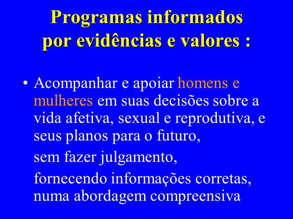 Programas informados por evidências e valores :