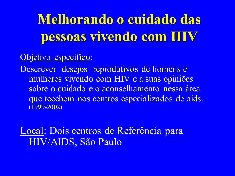 Melhorando o cuidado das pessoas vivendo com HIV