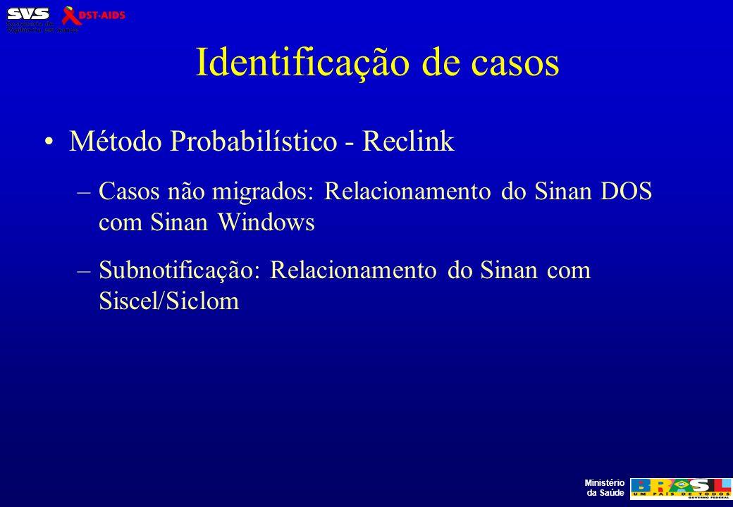 Identificação de casos