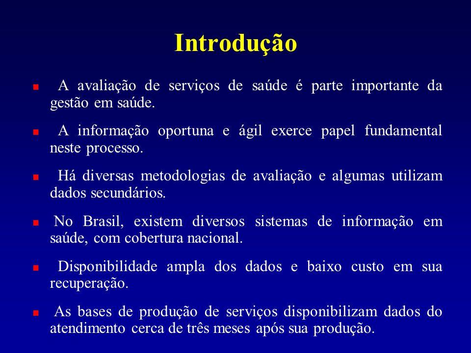 Introdução A avaliação de serviços de saúde é parte importante da gestão em saúde.