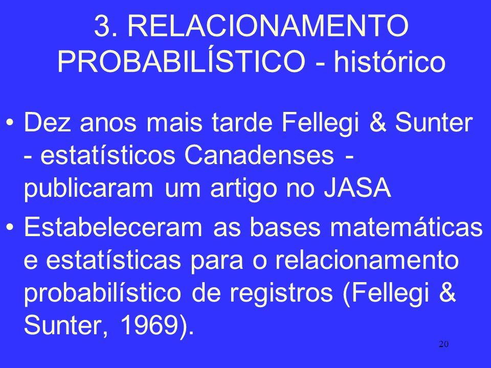 3. RELACIONAMENTO PROBABILÍSTICO - histórico