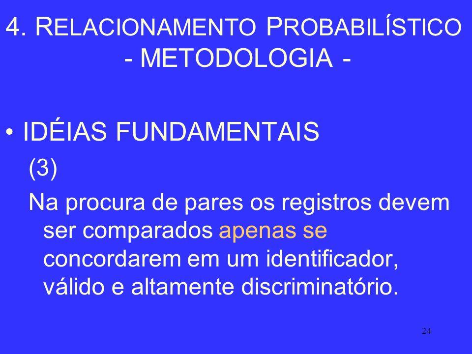4. RELACIONAMENTO PROBABILÍSTICO - METODOLOGIA -