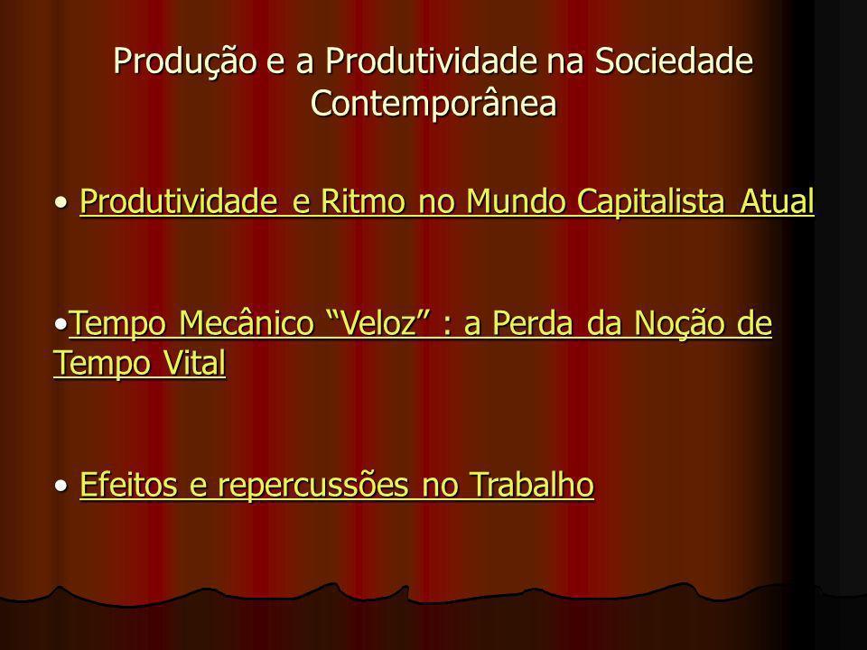 Produção e a Produtividade na Sociedade Contemporânea