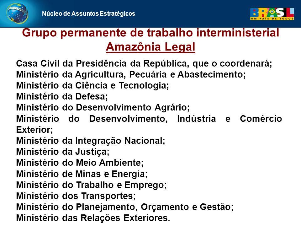 Grupo permanente de trabalho interministerial Amazônia Legal